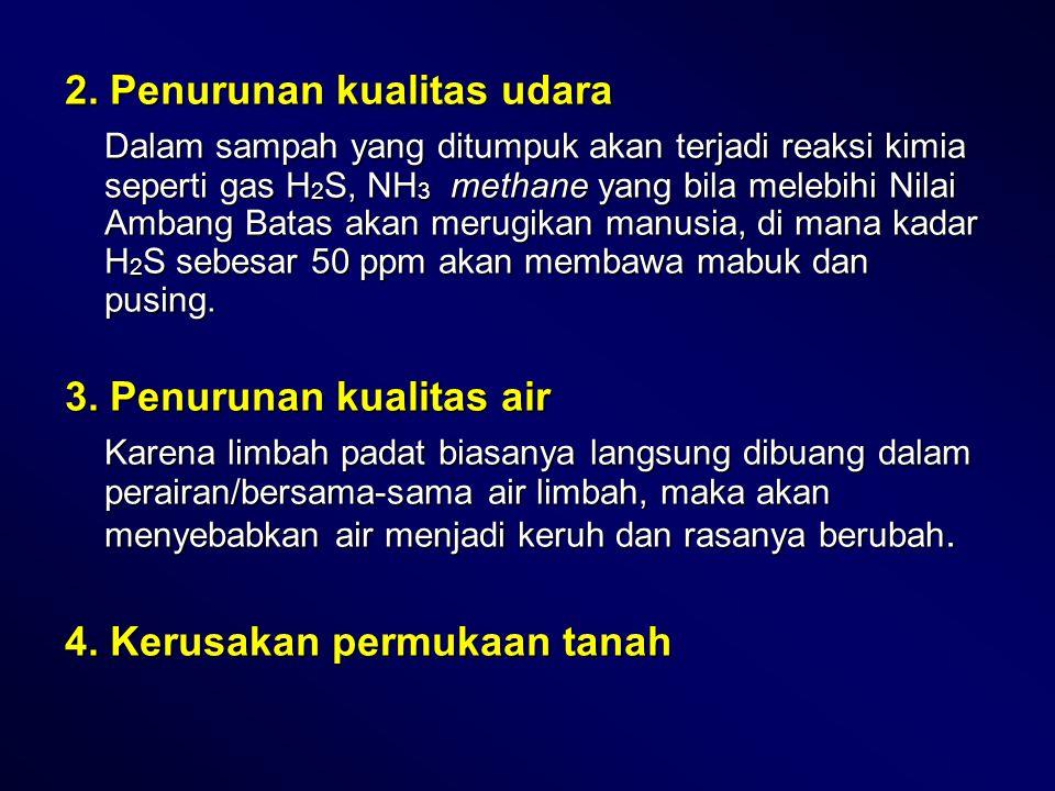 2. Penurunan kualitas udara