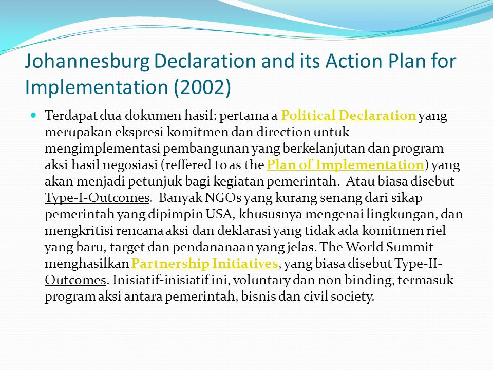 Johannesburg Declaration and its Action Plan for Implementation (2002)