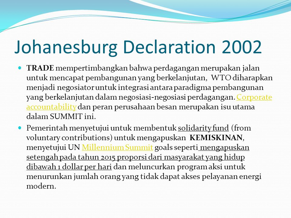 Johanesburg Declaration 2002