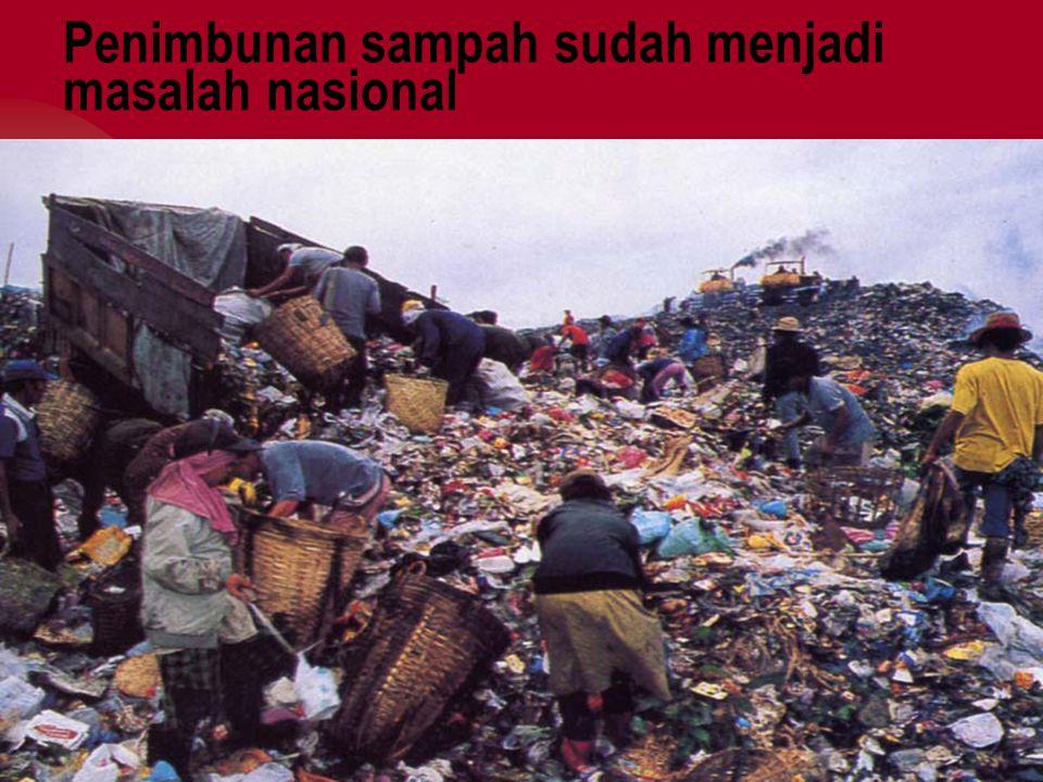 Penimbunan sampah sudah menjadi masalah nasional