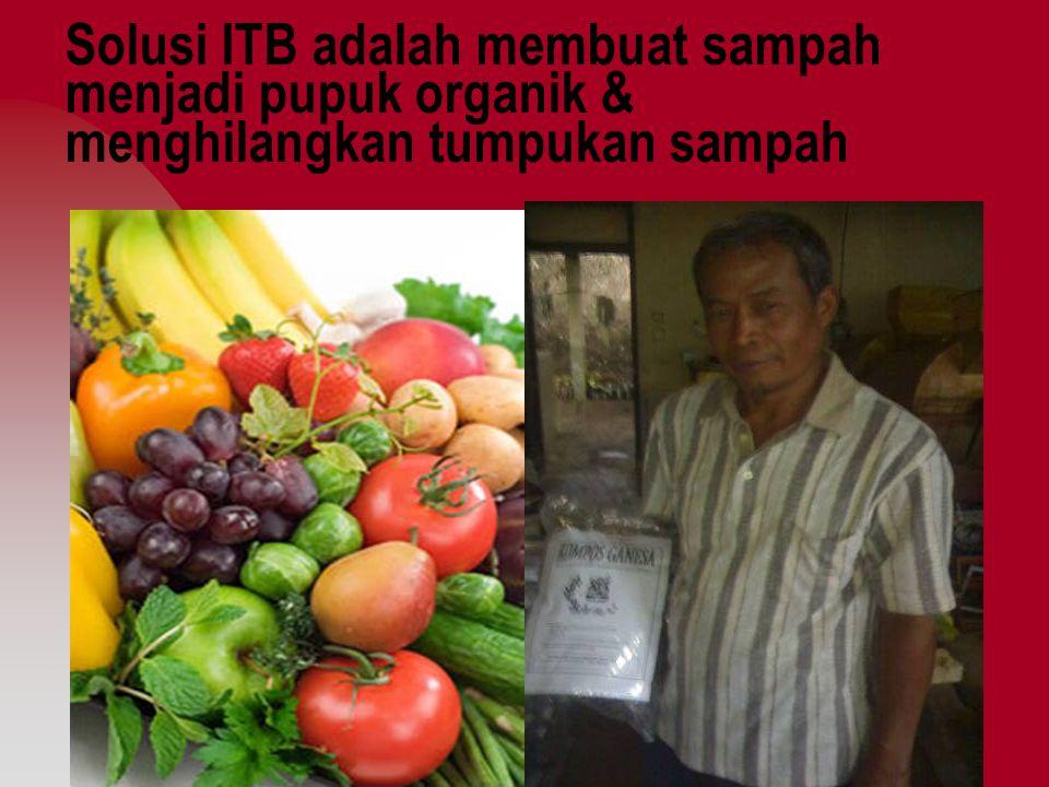 Solusi ITB adalah membuat sampah menjadi pupuk organik & menghilangkan tumpukan sampah