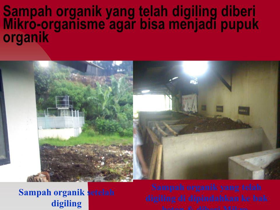 Sampah organik setelah digiling