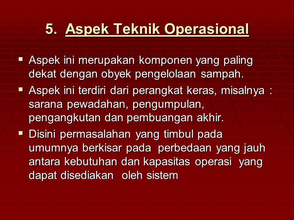 Aspek Teknik Operasional
