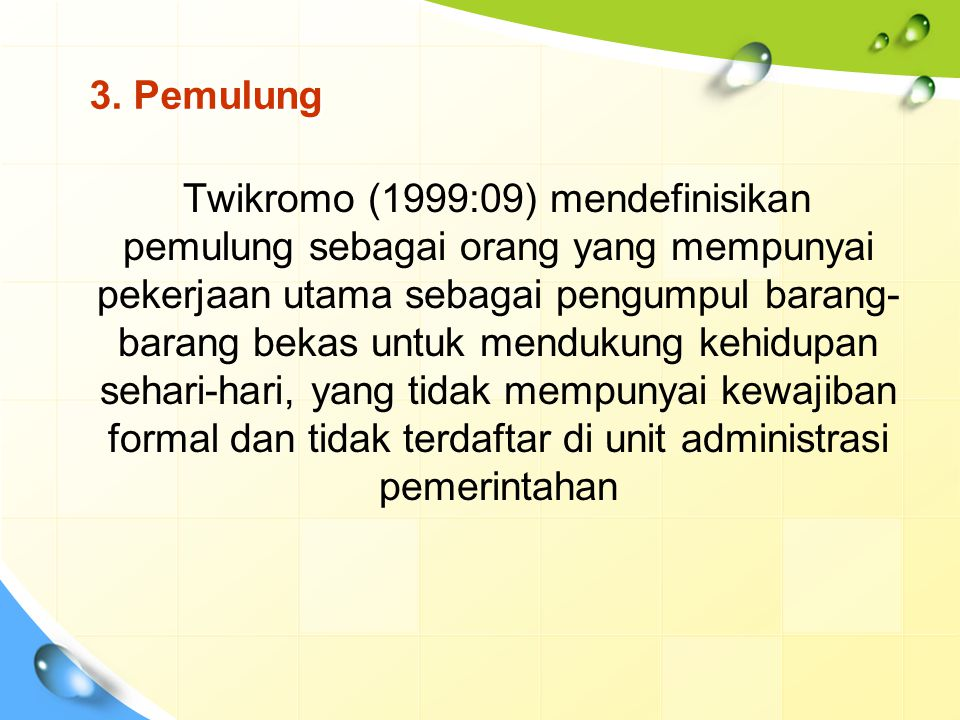 3. Pemulung