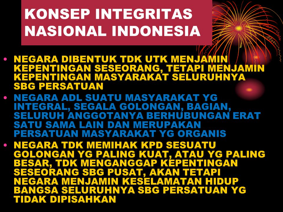 KONSEP INTEGRITAS NASIONAL INDONESIA