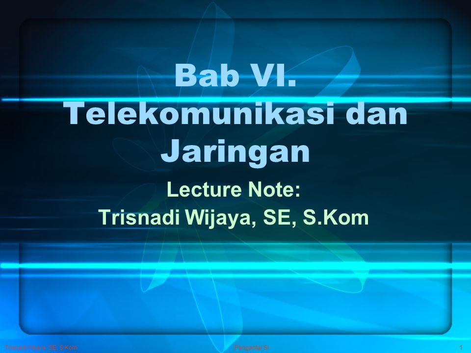 Bab VI. Telekomunikasi dan Jaringan