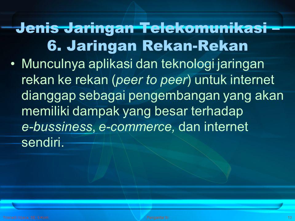 Jenis Jaringan Telekomunikasi – 6. Jaringan Rekan-Rekan