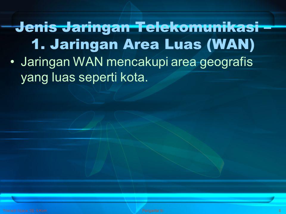 Jenis Jaringan Telekomunikasi – 1. Jaringan Area Luas (WAN)