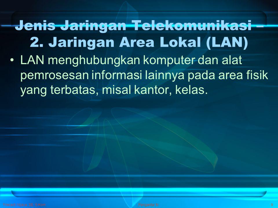 Jenis Jaringan Telekomunikasi – 2. Jaringan Area Lokal (LAN)