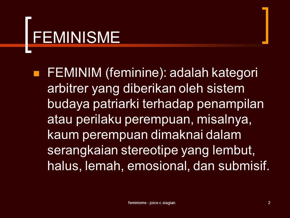feminisme - joice c.siagian.