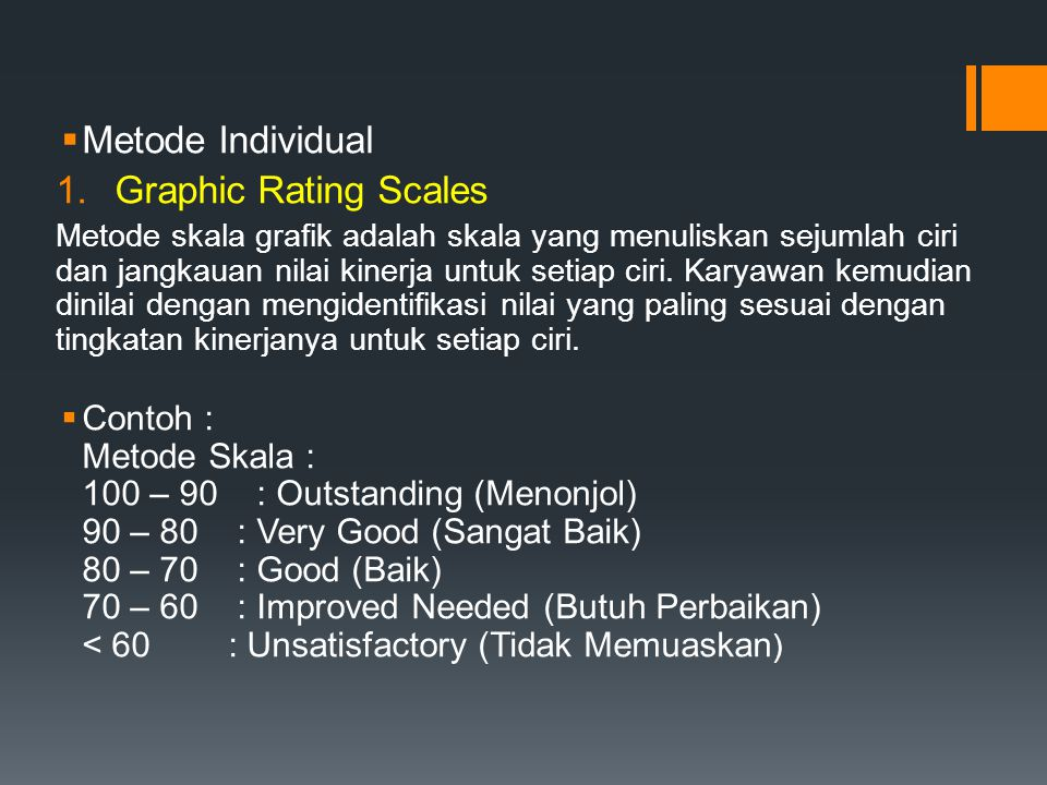 Metode Individual Graphic Rating Scales
