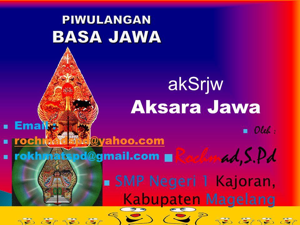 Rochmad,S.Pd akSrjw Aksara Jawa