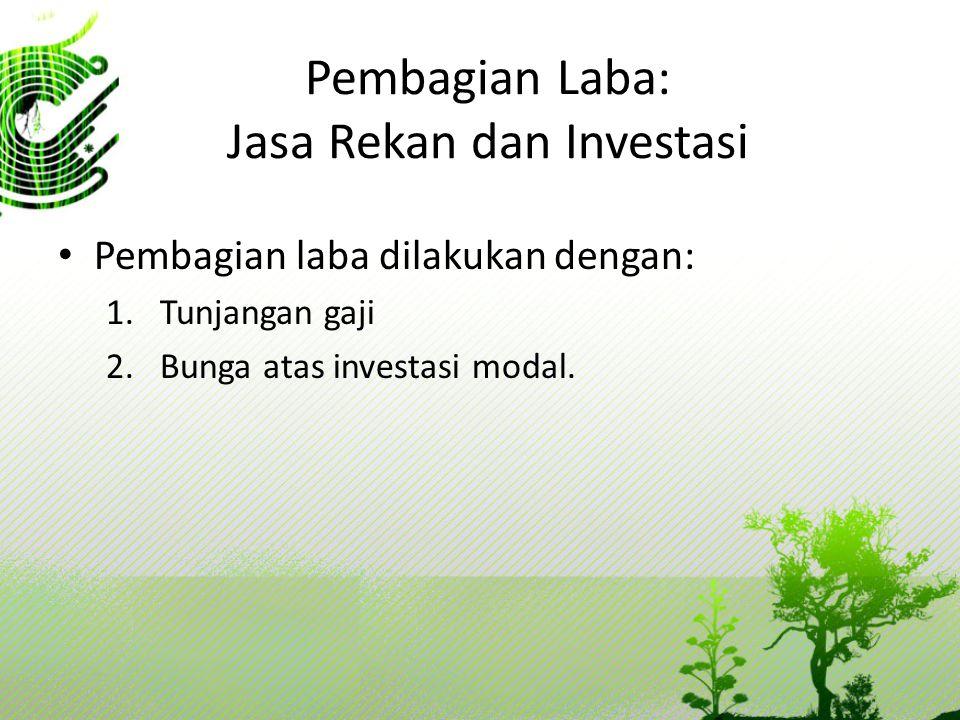 Pembagian Laba: Jasa Rekan dan Investasi
