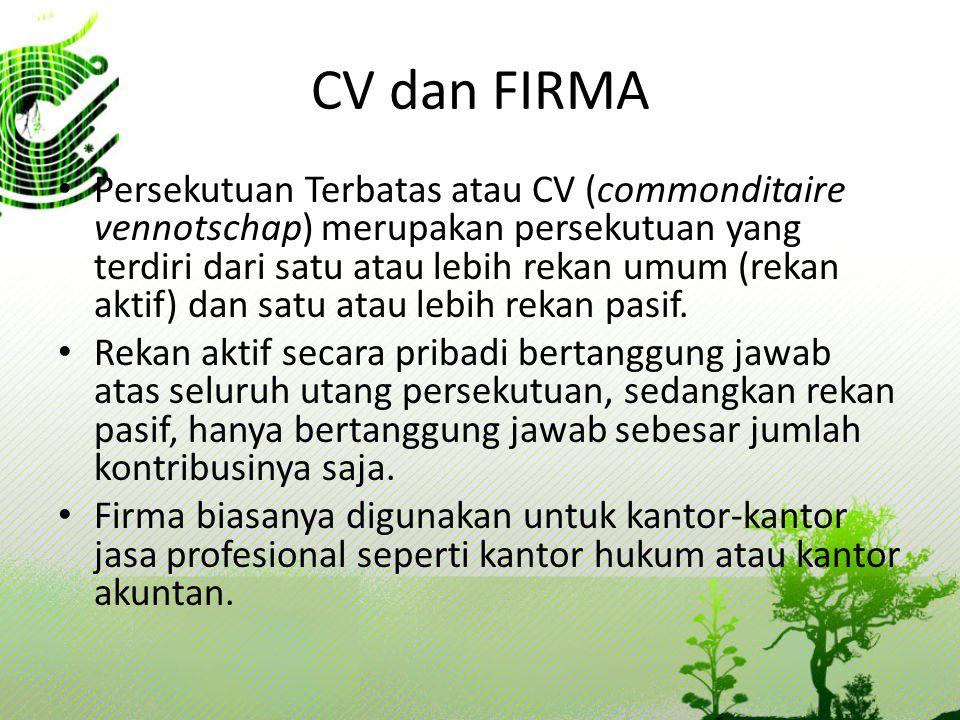 CV dan FIRMA