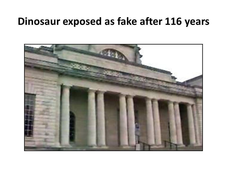 Dinosaur exposed as fake after 116 years