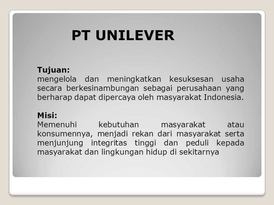 PT UNILEVER Tujuan: