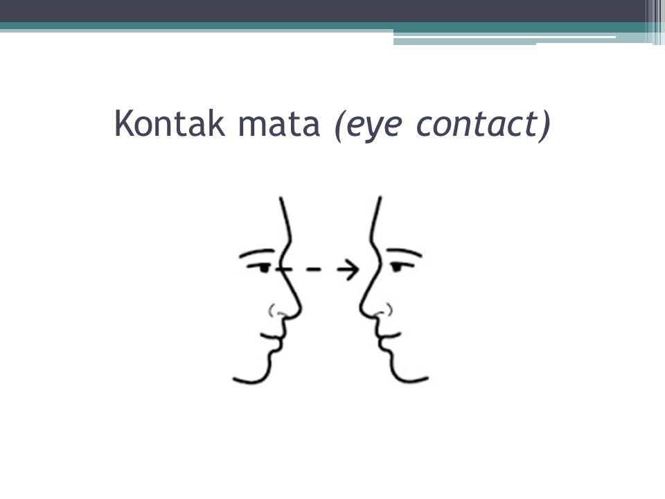 Kontak mata (eye contact)