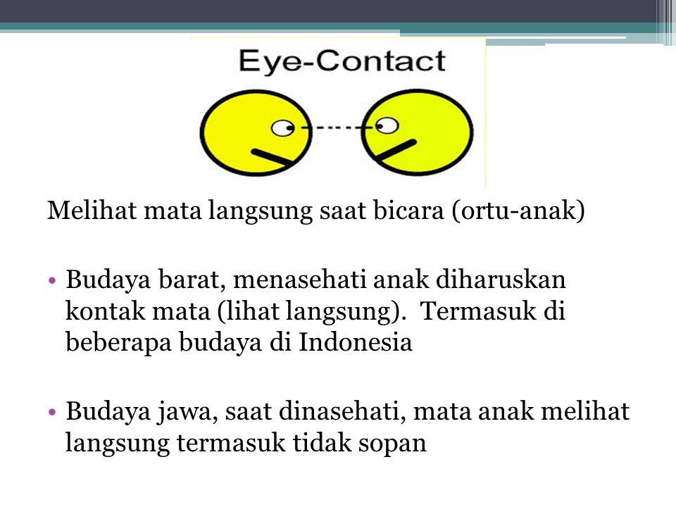Melihat mata langsung saat bicara (ortu-anak)