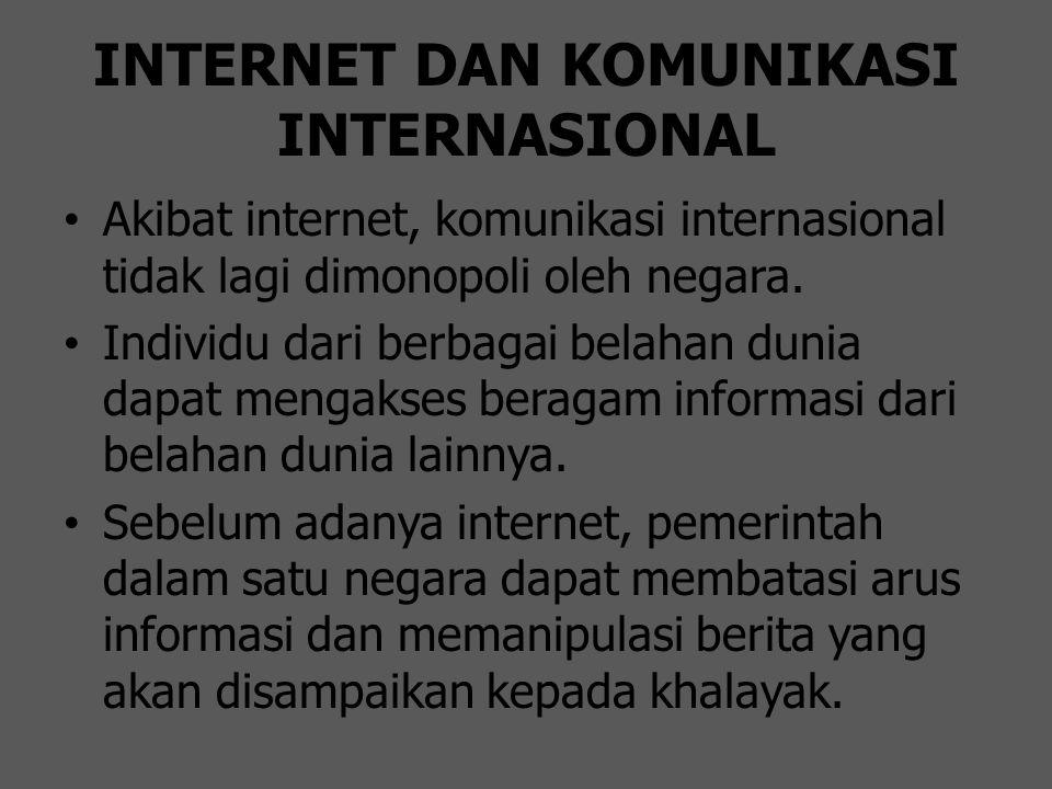 INTERNET DAN KOMUNIKASI INTERNASIONAL