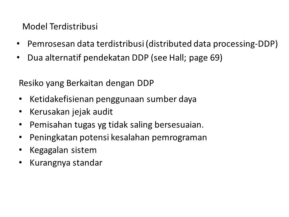 Resiko yang Berkaitan dengan DDP