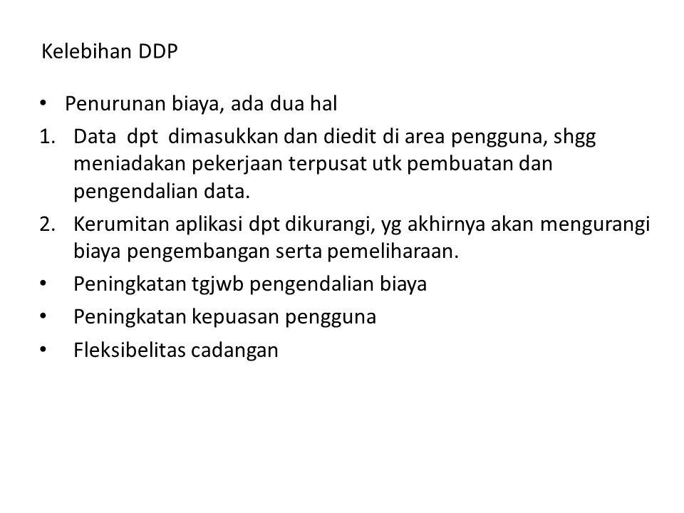 Kelebihan DDP Penurunan biaya, ada dua hal.
