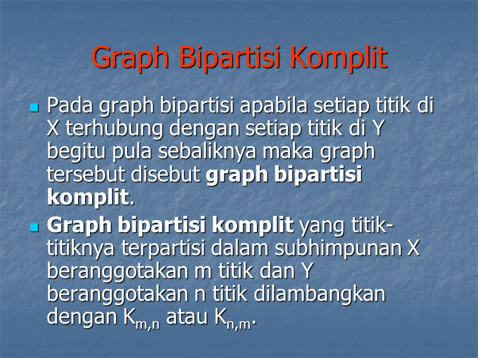 Graph Bipartisi Komplit