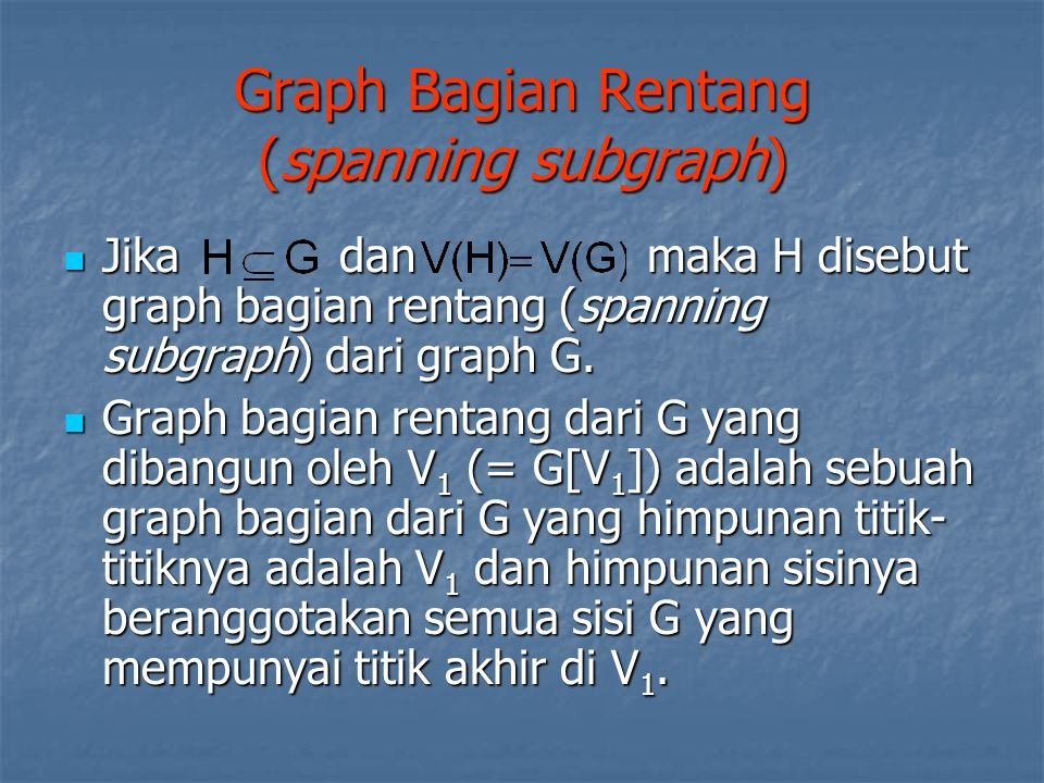 Graph Bagian Rentang (spanning subgraph)