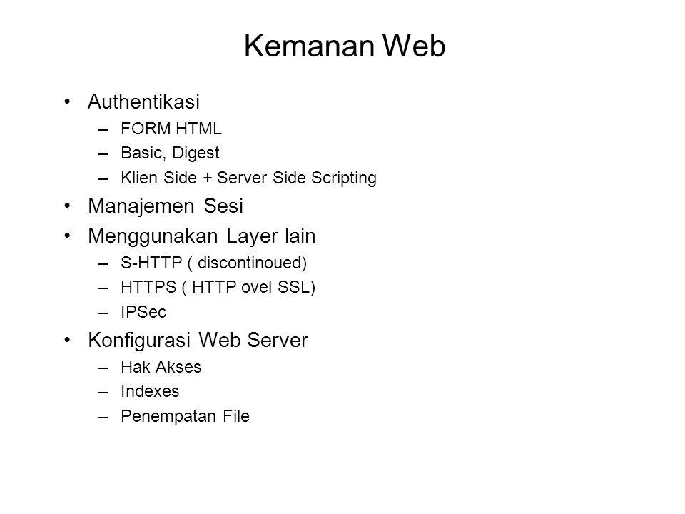 Kemanan Web Authentikasi Manajemen Sesi Menggunakan Layer lain
