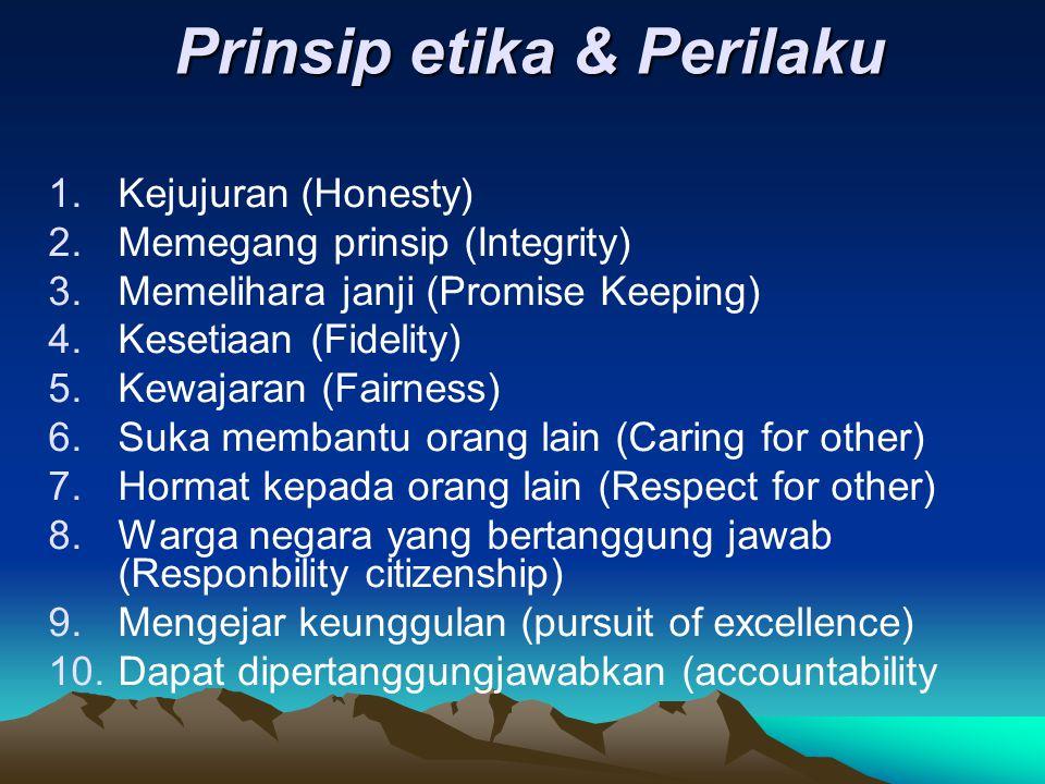 Prinsip etika & Perilaku