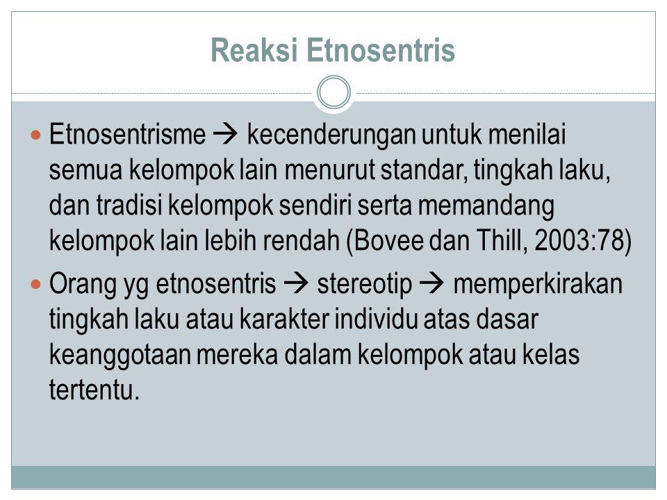 Reaksi Etnosentris