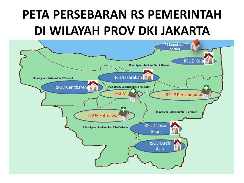 PETA PERSEBARAN RS PEMERINTAH DI WILAYAH PROV DKI JAKARTA