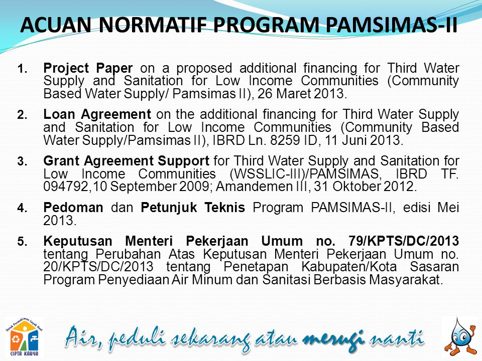 ACUAN NORMATIF PROGRAM PAMSIMAS-II