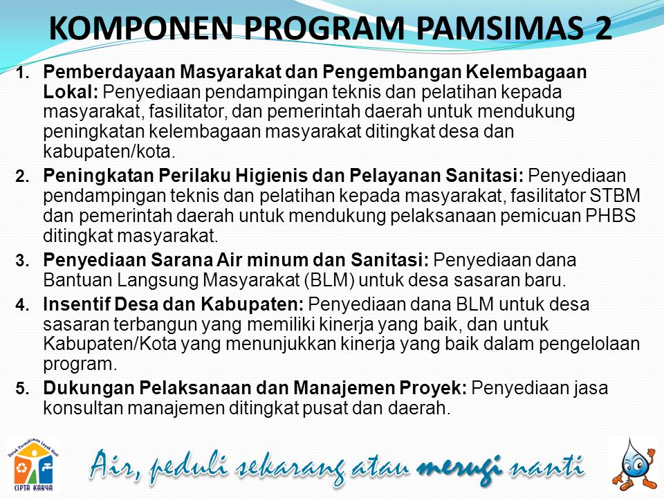 KOMPONEN PROGRAM PAMSIMAS 2
