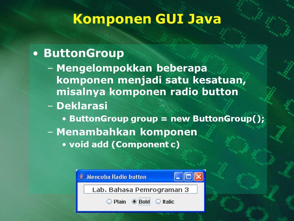 Komponen GUI Java ButtonGroup