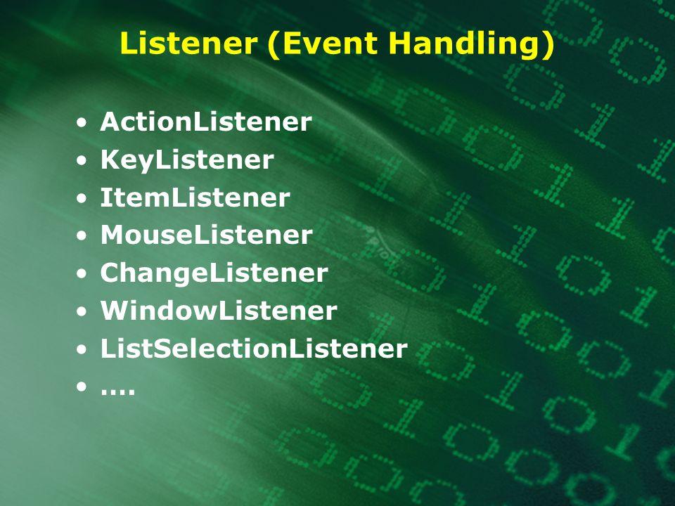 Listener (Event Handling)