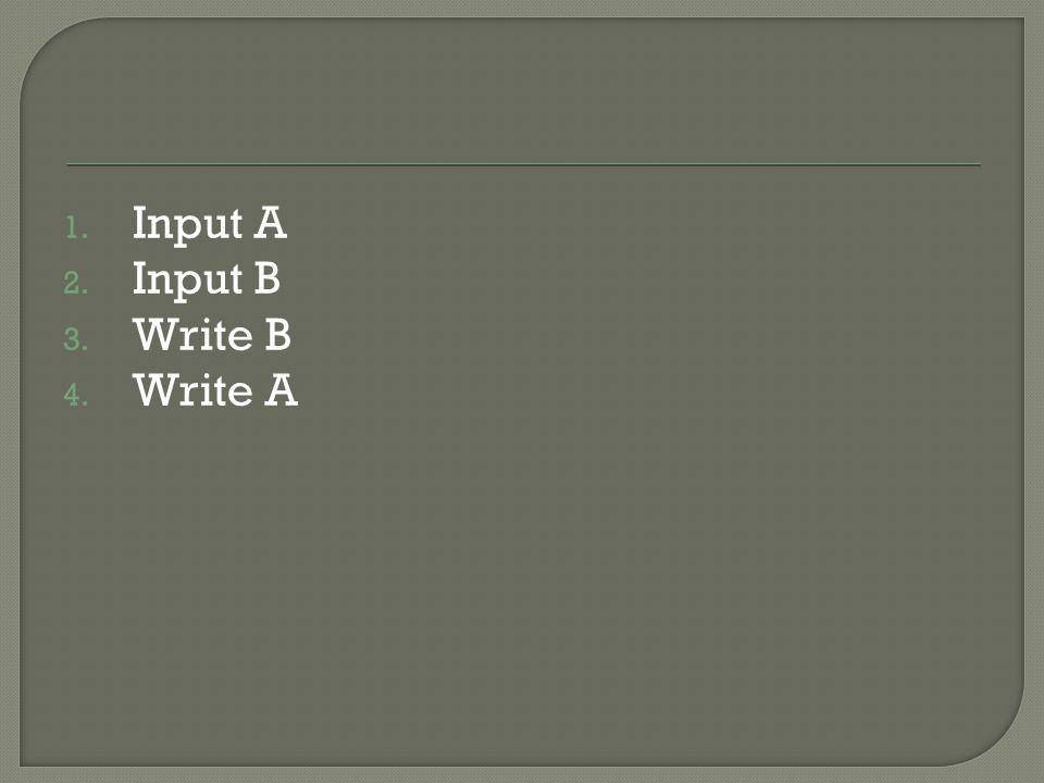 Input A Input B Write B Write A