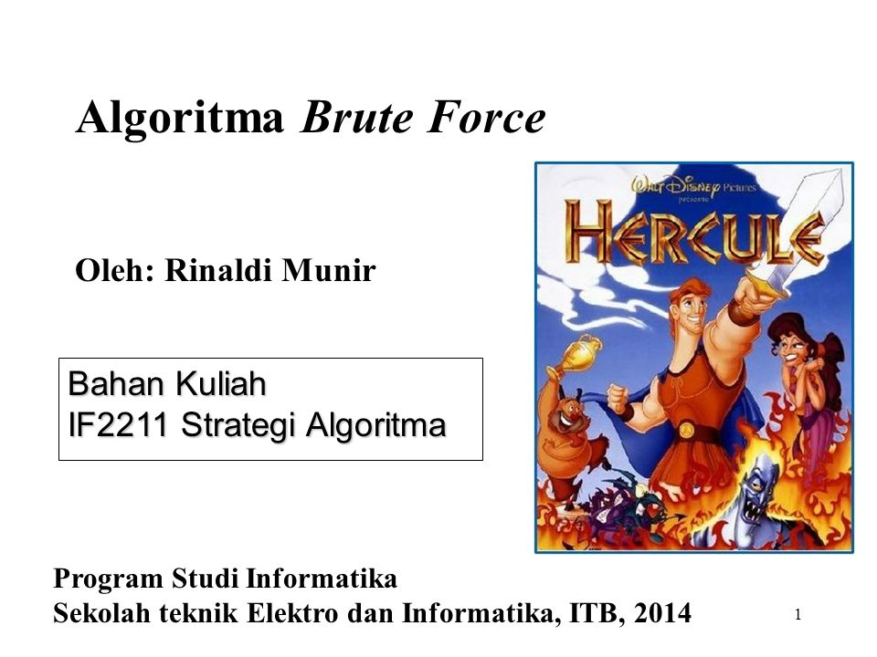 Algoritma Brute Force Oleh: Rinaldi Munir