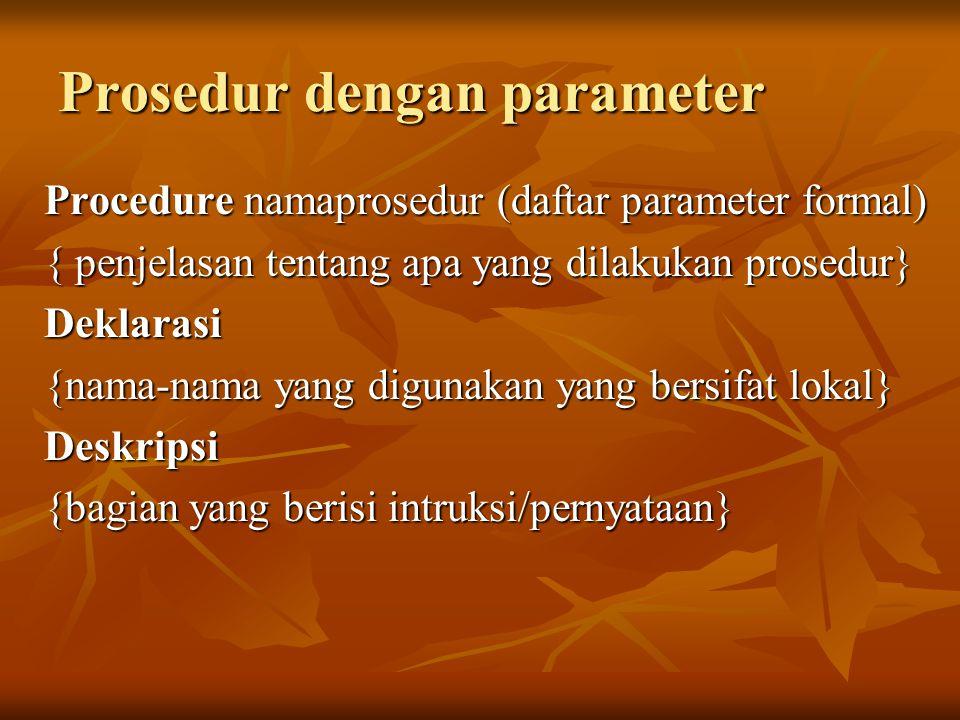 Prosedur dengan parameter