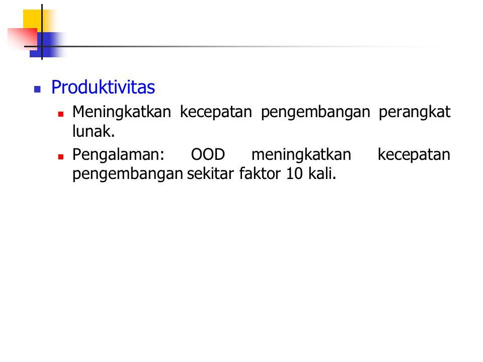 Produktivitas Meningkatkan kecepatan pengembangan perangkat lunak.