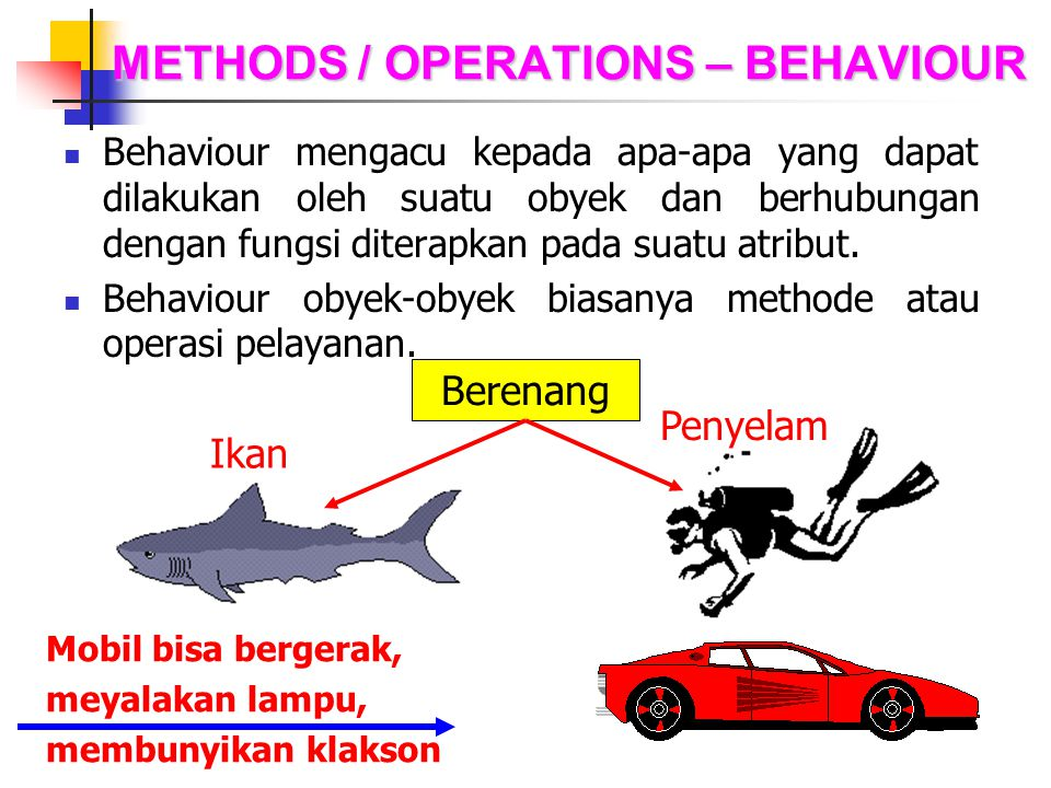 METHODS / OPERATIONS – BEHAVIOUR