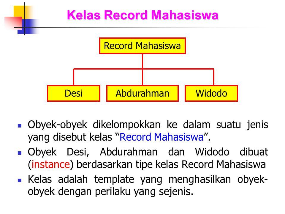 Kelas Record Mahasiswa