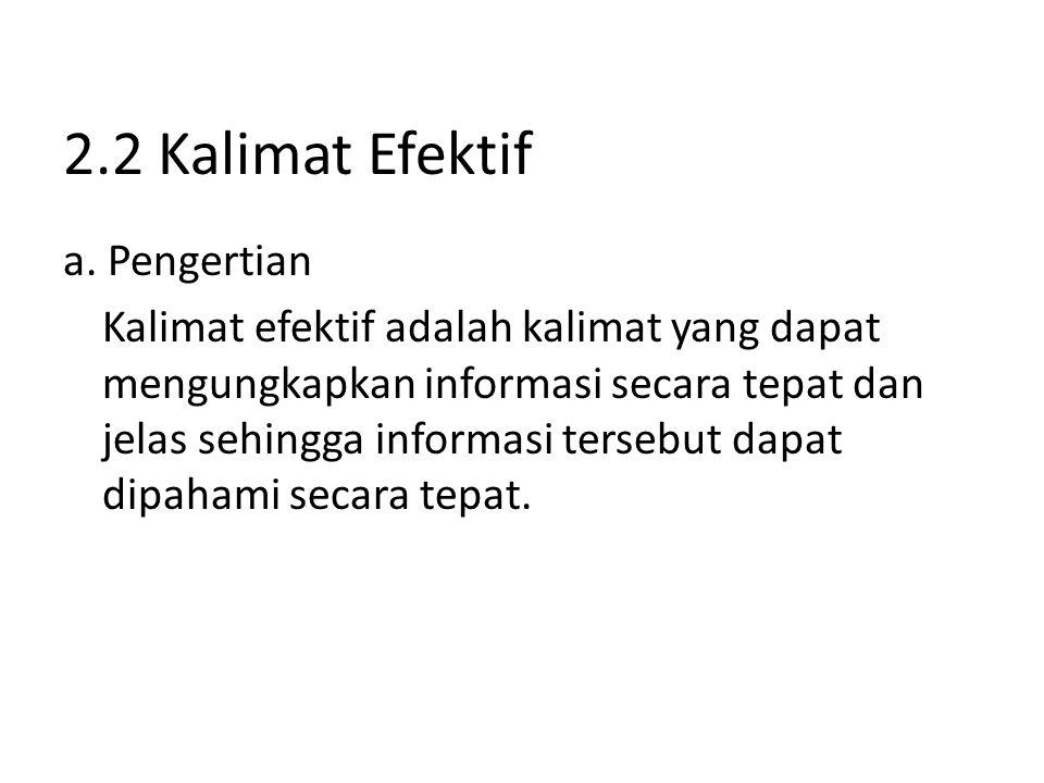 2.2 Kalimat Efektif