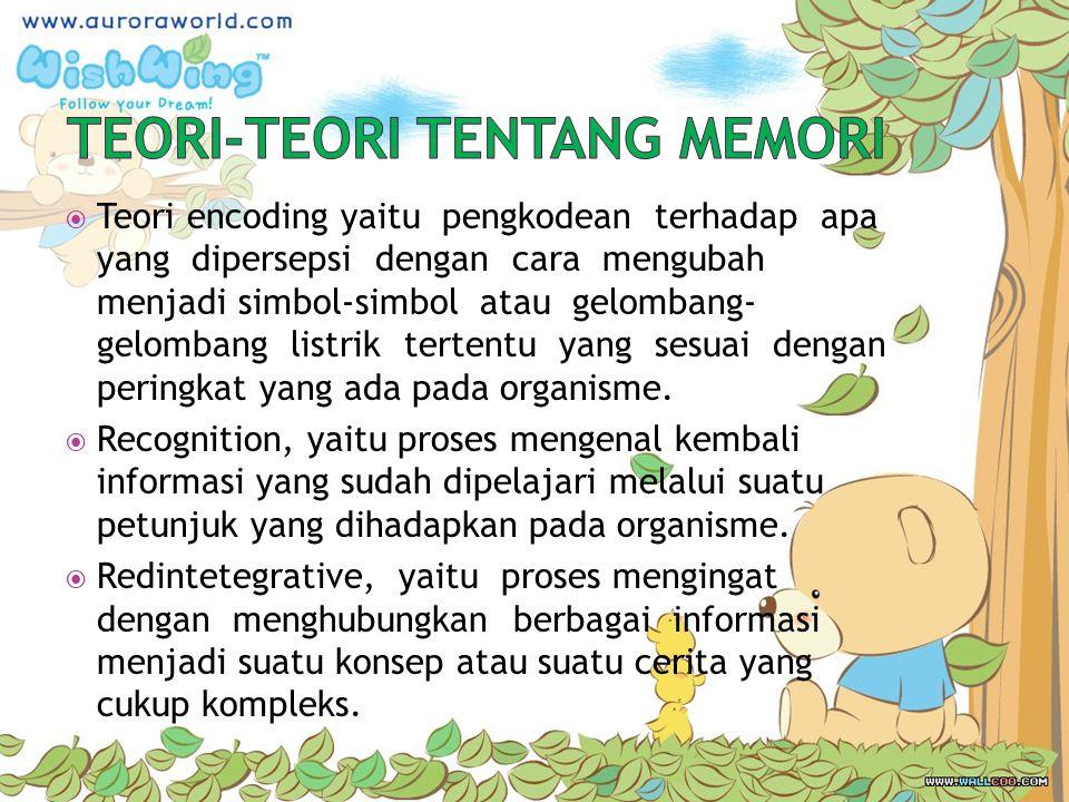 TEORI-TEORI TENTANG MEMORI