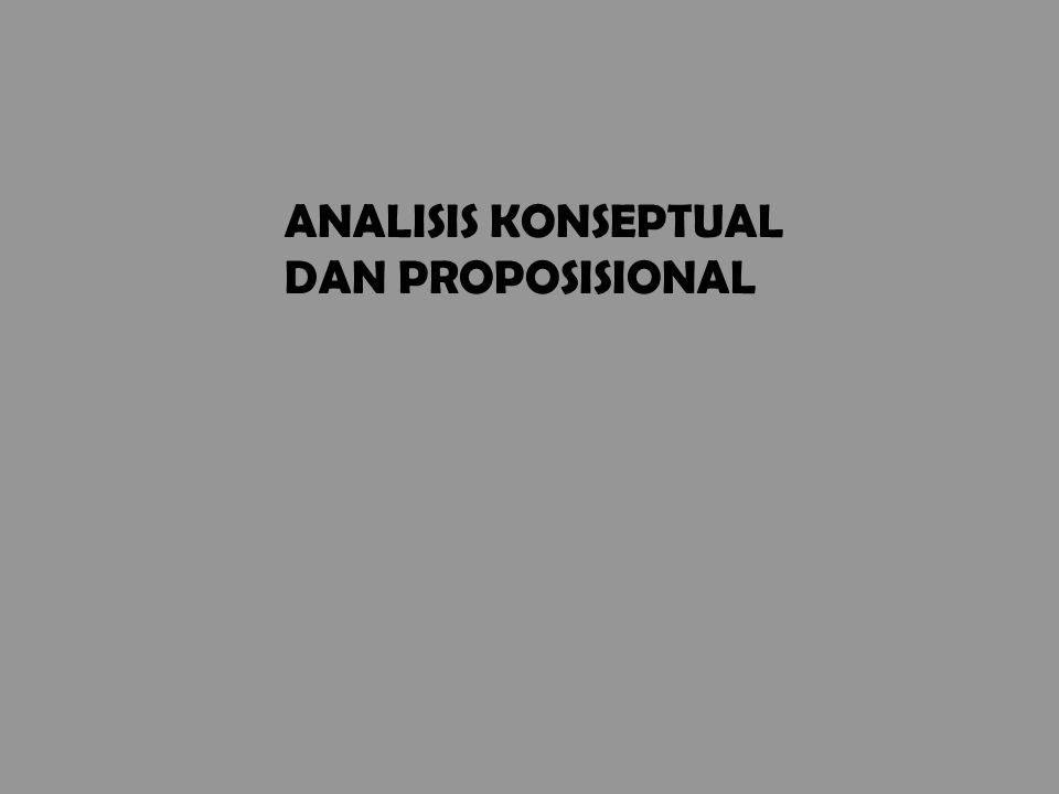 ANALISIS KONSEPTUAL DAN PROPOSISIONAL