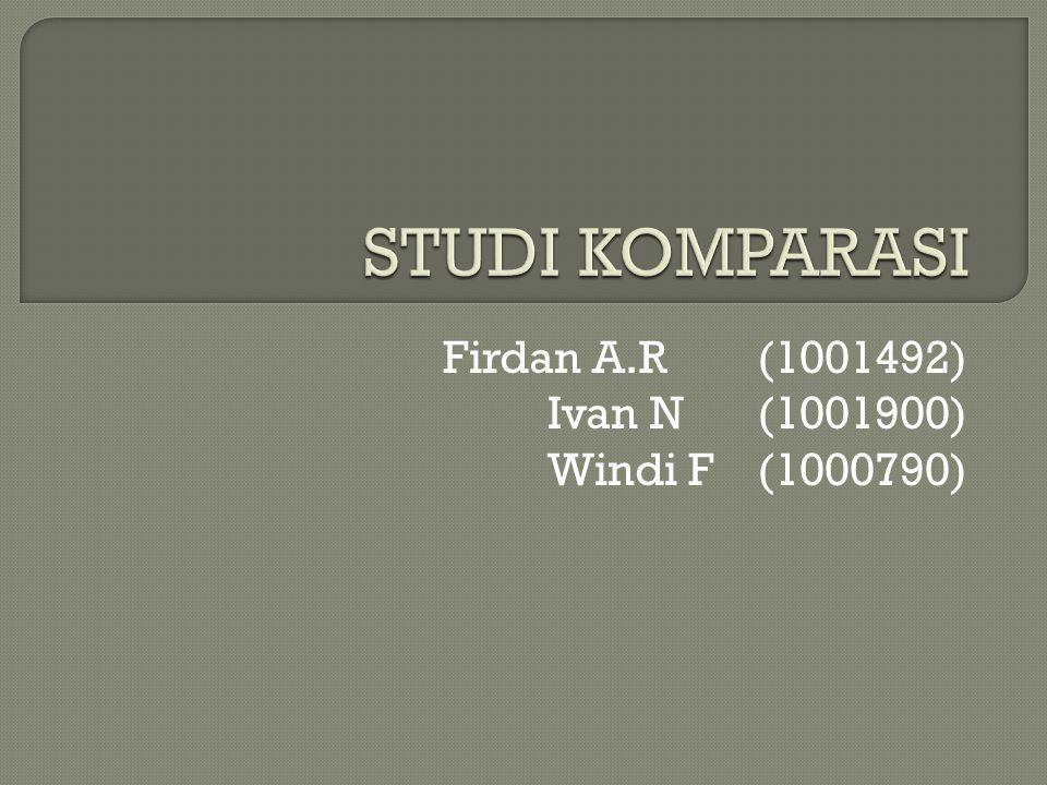 Firdan A.R (1001492) Ivan N (1001900) Windi F (1000790)
