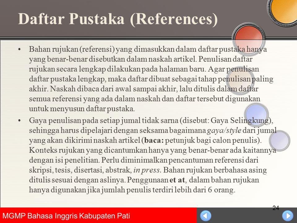 Daftar Pustaka (References)