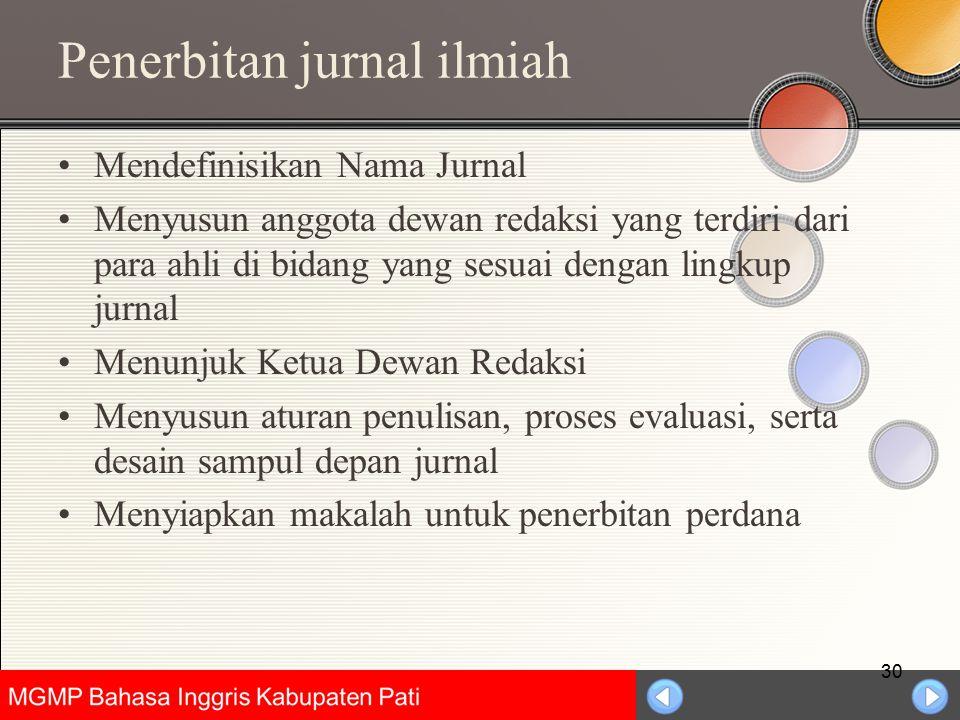 Penerbitan jurnal ilmiah