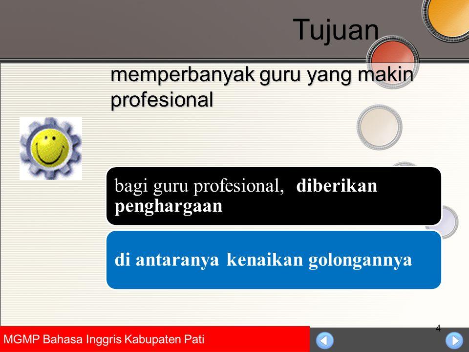 Tujuan memperbanyak guru yang makin profesional
