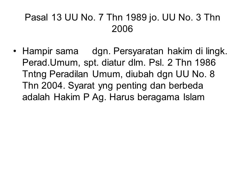 Pasal 13 UU No. 7 Thn 1989 jo. UU No. 3 Thn 2006