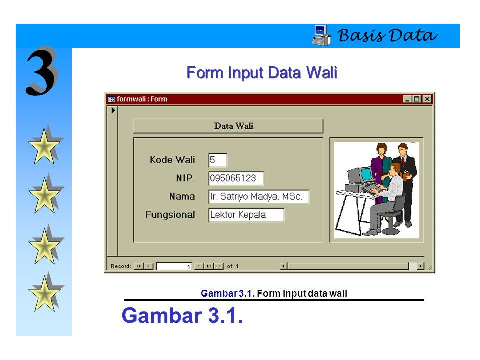 Gambar 3.1. Form input data wali